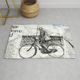 CP Scott on a Bicycle Rug
