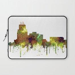 Durham, NC Skyline SG - Safari Buff Laptop Sleeve