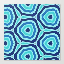 Bet on Blue - Abstract Circles Canvas Print