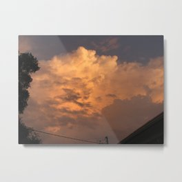 Orange Hue Metal Print