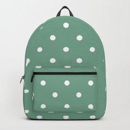 Polka Dots Pattern: Sea Foam Green Backpack