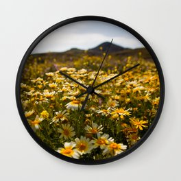 Flower dotted Delos Wall Clock