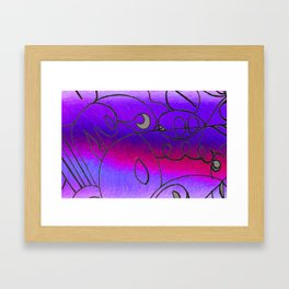 Curves at Dusk Framed Art Print