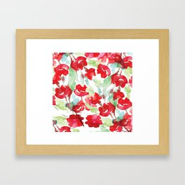 Floral Watercolor Pattern designed by #Mahsawatercolor Framed Art Print