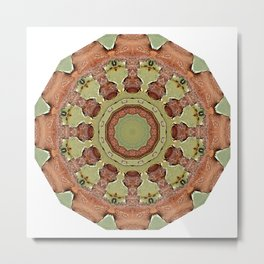 Rust-Mandala 01, Colors of Rust, ROSTart Metal Print