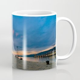 Colorful sunset in front of the city of Trieste Coffee Mug