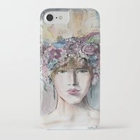 headdress iPhone & iPod Cases featuring Headdress  by Talitha Etters