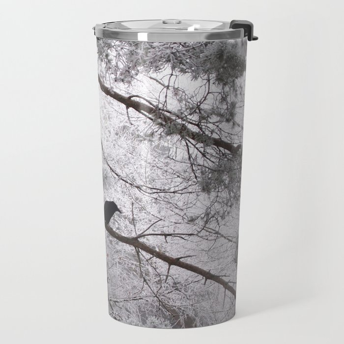 Winter crow. Travel Mug