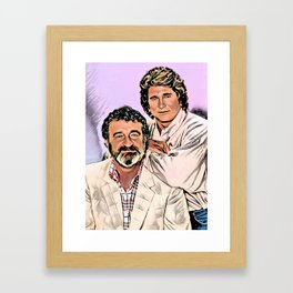 Michael Landon & Victor French Framed Art Print