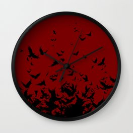 An Unkindness of Ravens Wall Clock