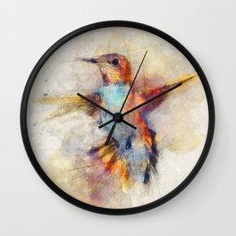 Hummingbird art series Wall Clock