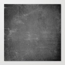 Gray and White School Chalk Board Canvas Print