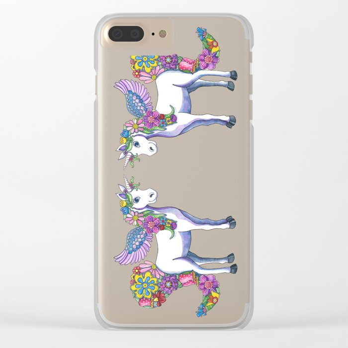 Madeline the Magic Unicorn Clear iPhone Case