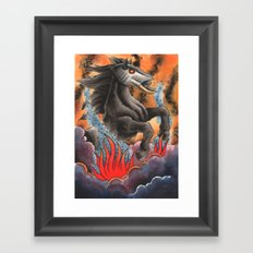 Through Flame Framed Art Print