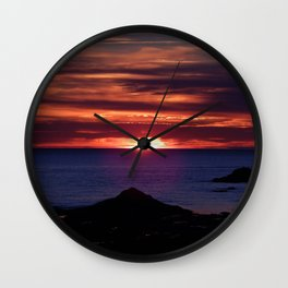 Dawn on the Sea Wall Clock