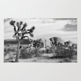 Black and White Joshua Tree National Park Rug