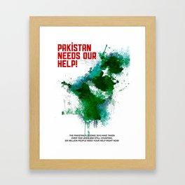 PK Flooding Framed Art Print