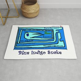 Blue Indigo Snake Rug