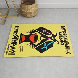 1920's Vintage Campari Advertisement Poster by Fortunato Depero Rug