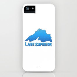 Great Lakes Lake Superior Outline iPhone Case