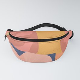 Women with eyebrow in the desert with flowery coat Fanny Pack