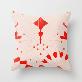 Wheel of hearts Throw Pillow