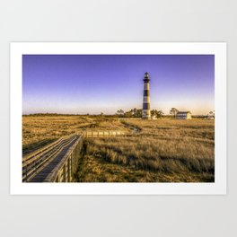 The Lighthouse at Bodie Island Art Print