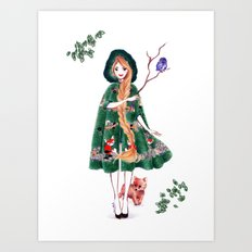 Fairy of the Woods Art Print