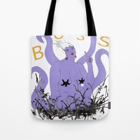boss Tote Bags featuring Boss by Hillary J. Murphy
