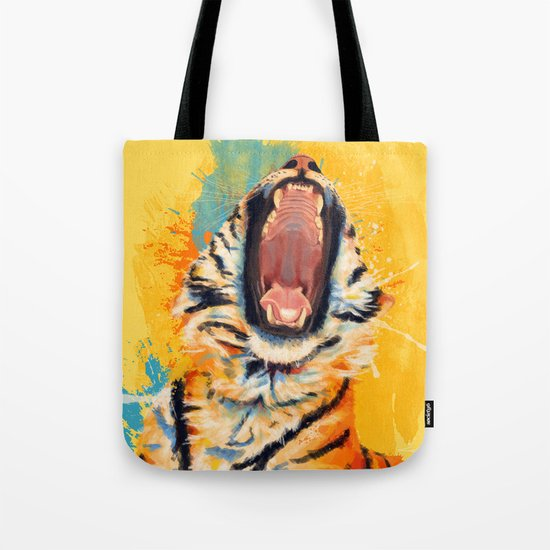 Wild Yawn - Tiger portrait Tote Bag