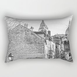 Sacre Coeur view Montmartre Paris Rectangular Pillow