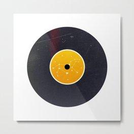 Vinyl Record Star Sign Art | Leo Metal Print