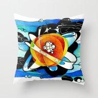big bang Throw Pillows featuring Big Bang by Raluca Mitarca