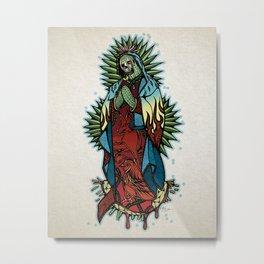 Cactus Lady of Guadalupe Metal Print