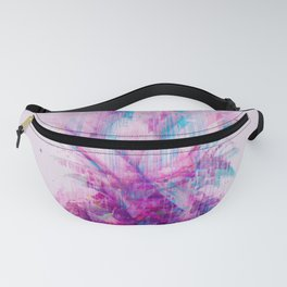 Pink Glitched Pineapple Fanny Pack