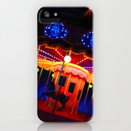 Carousel , Oil Painting iPhone Case