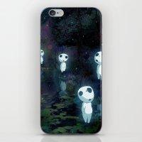 kodama iPhone & iPod Skins featuring Princess Mononoke - The Kodama by pkarnold + The Cult Print Shop