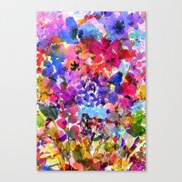 Jelly Bean Wildflowers Canvas Print
