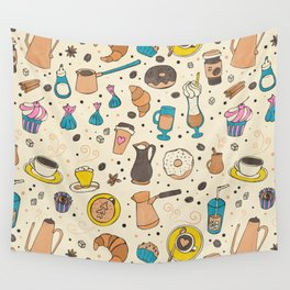 Spicy coffee Wall Tapestry
