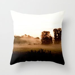 Misty Sunrise Throw Pillow