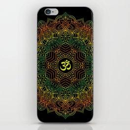 Mandala Ohm Yay Green iPhone Skin