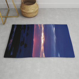 Purple Glow at Sunset Rug