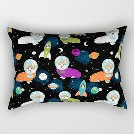 Corgi astronaut red coat corgi space cadet outer space dog breed corgis Rectangular Pillow