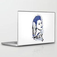 miley cyrus Laptop & iPad Skins featuring Miley Cyrus by Becky Doyon