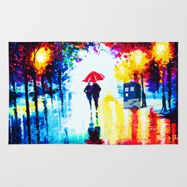 Art Painting Tardis Romantic Rug