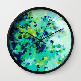 Aquamarine Addiction Wall Clock