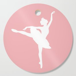 Pink and white Ballerina Cutting Board