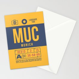 Baggage Tag B - MUC Munich Germany Stationery Cards