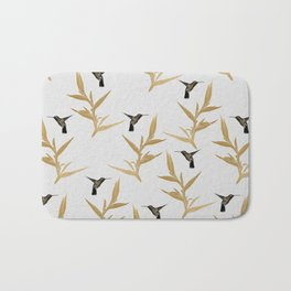 Hummingbird & Flower II Bath Mat