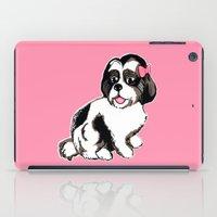 shih tzu iPad Cases featuring Shih Tzu Puppy  by Artist Abigail